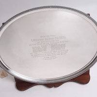 Oval shaped silver salver