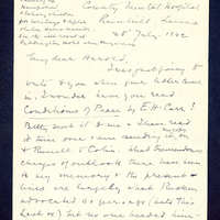 Correspondence from Dickson to Harold